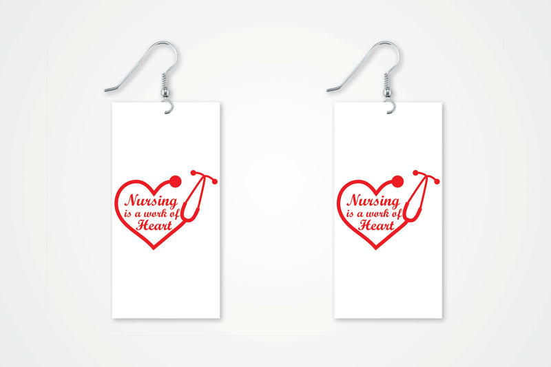 Nurse Appreciation Gift earring - Miracle Prints