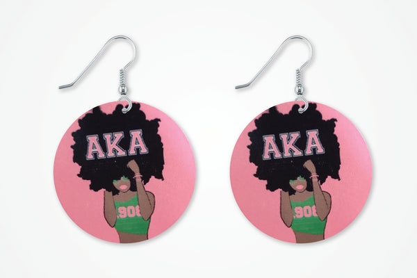 AKA earrings, Alpha Kappa Alpha earrings, 1908 earrings, AKA earrings,AKA earrings.