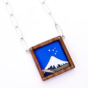 Mt. Fuji Pendant Necklace