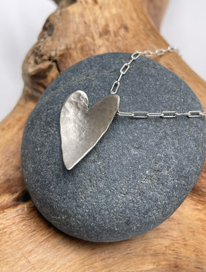 Tall hammered heart