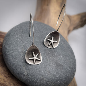 Abstract Starfish Dangle Earrings