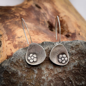 Abstract Flower Dangle Earrings