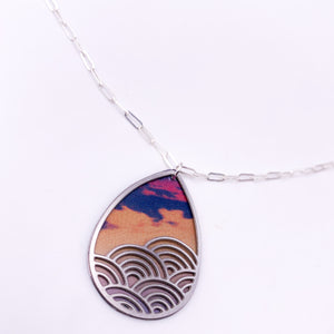 Sunset and Rolling Waves Pendant