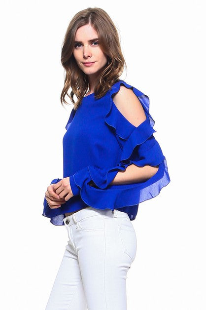 Theory Ruffle Top