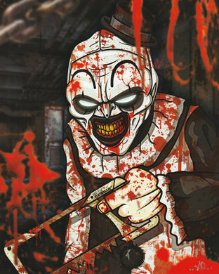 Terrifier 8x10 Fan Art Print by Playful Gorilla