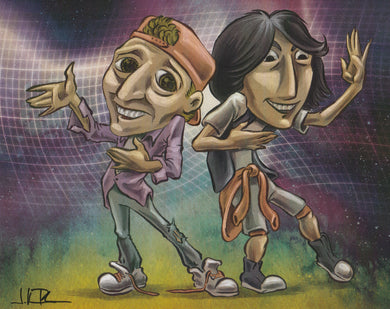Bill and Ted's Excellent Adventure 8x10 Fan Art Print by Jonathan Rosenbaum