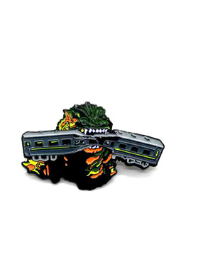 Zobie Box - Godzilla Fan Art Inspired Lapel Pin
