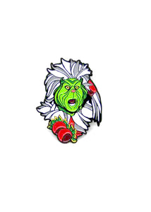 Zobie Box - Grinch Fan Art Inspired Lapel Pin -Variant