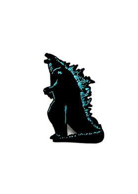 Zobie Box - Godzilla Fan Art Inspired Lapel Pin - Variant