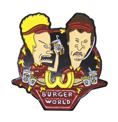 Zobie Box - Beavis & Butthead - Fan Art Inspired Lapel Pin - Burger World