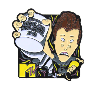 Zobie Box - Beavis & Butthead - Fan Art Inspired Lapel Pin - MTV Variant