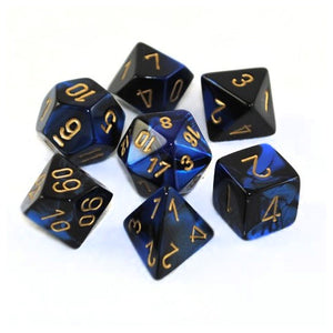 Chessex Chx26435 Gemini Black Blue Gold