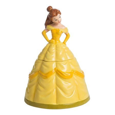 beauty and the beast - belle sculpted ceramic cookie jar