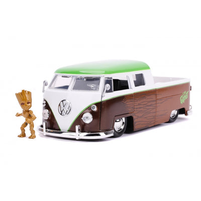 Gardiand of the Galaxy Dicast Groot and 1963 VW Bus Pickup