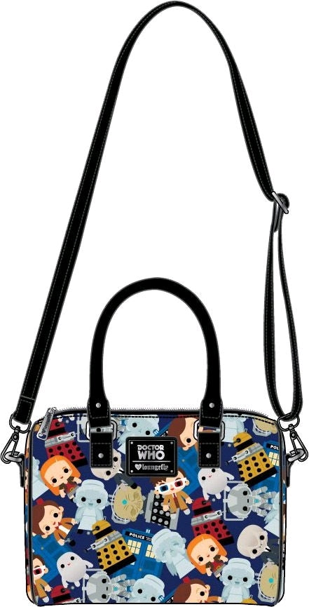 Doctor Who Loungefly Chibi Print Bag