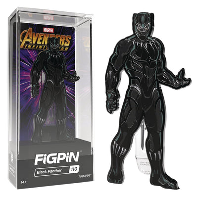 Avengers Assorted FIGPIN Enaeml Pin - Black Panther