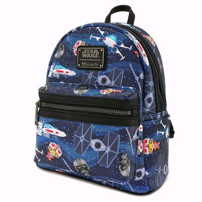 Star Wars Chibi X-Wing Loungefly Tie Fighter Mini Backpack