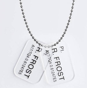 alien dog tags with ball and chain R frost