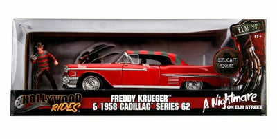 1:24 Nightmare on Elm Street Freddy with 62 Cadillac