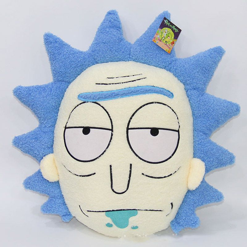 Rick and morty rick cushion - open mouth