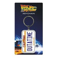 "Back To The Future License Plate ""OUTATIME"" rubber keychain"