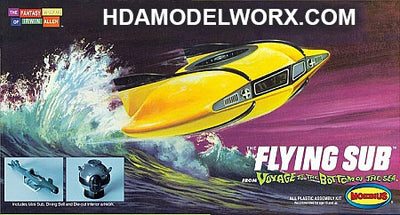 Voyage To The Bottom Of The Sea - Flying Sub Model Kit