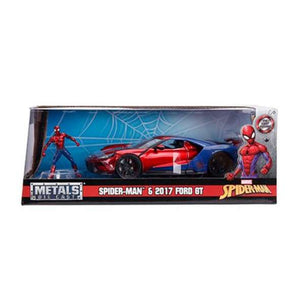 Avengers Spider man 2017 Ford GT w/ spider man figure 1:24