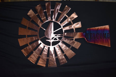 Customized Copper Plated Windmill Metal Art