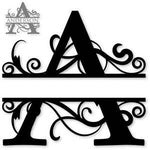 Split monogram A metal art