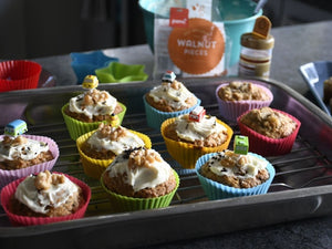 "Hummingbird Muffins - packed with fruit, tastes like lollies - easy lunch box ""treats""."
