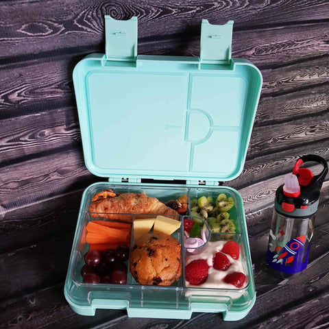 DEj KidS Mint Green Bento Lunchbox with drink bottle