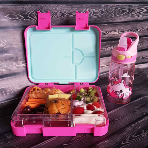 DEj KidS Dark Pink Bento Lunchbox and drink bottle