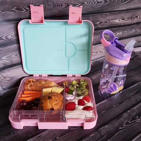 DEj KidS Light Pink Bento Lunchbox / Lunch box with drink bottle