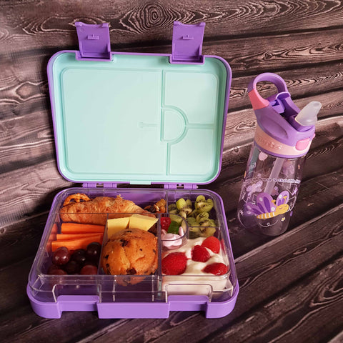 DEj KidS Purple Bento Lunchbox with drink bottle