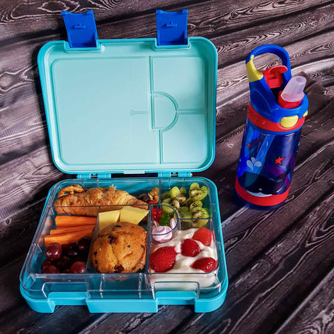DEj KidS Bitez Large Leakproof Bento Lunchbox Dishwasher Safe