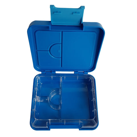 Kids Lunch boxes NZ Blue Snack Box DEJ Kids Bitez