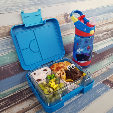 Lunch box Ideas DEJ Kids Blue Snack box & Kids water bottle