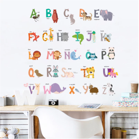 Removable Wall Stickers - Animal Alphabet