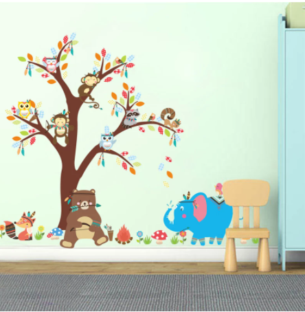 Removable Wall Stickers - Jungle Animals 3