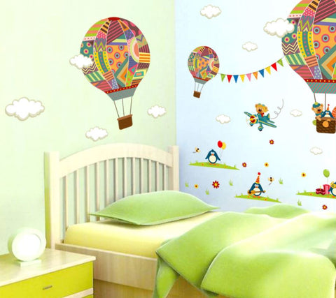 Removable Wall Stickers Hot Air Balloon New Zealand