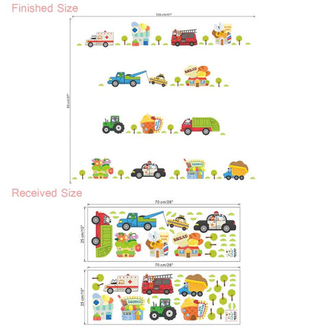 Wall Stickers Kids Room Sizing