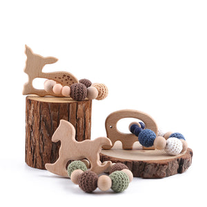 Wooden Teething Ring Set