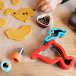 4 Pce Sandwich Cutters / Cookie Cutters