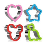 Sandwich Cutters / Cookie Cutters - 4 Pce Steel