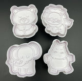 Cookie Cutters & Cookie Stamps - 4 pc