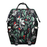 Diaper backpack bag Green Leaf