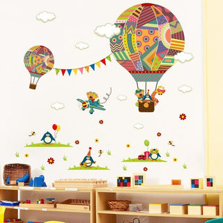 Kids Room Decor NZ Wall Stickers Hot Air Balloon