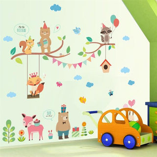 Kids Room Decor Wall Stickers Forest Animals