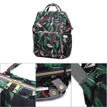 LeQueen Nappy Bag Green Leaf