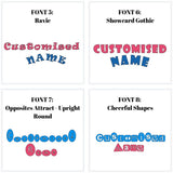 Lunch box name sticker fonts NZ